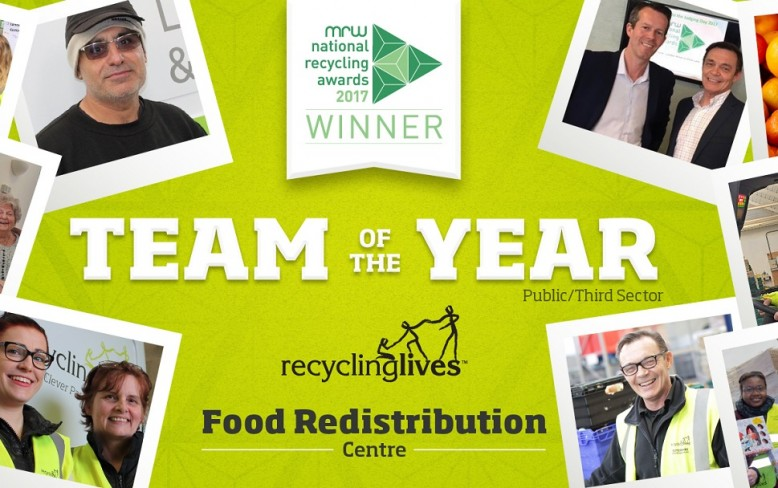 Food Redistribution Centre named national Team of the Year