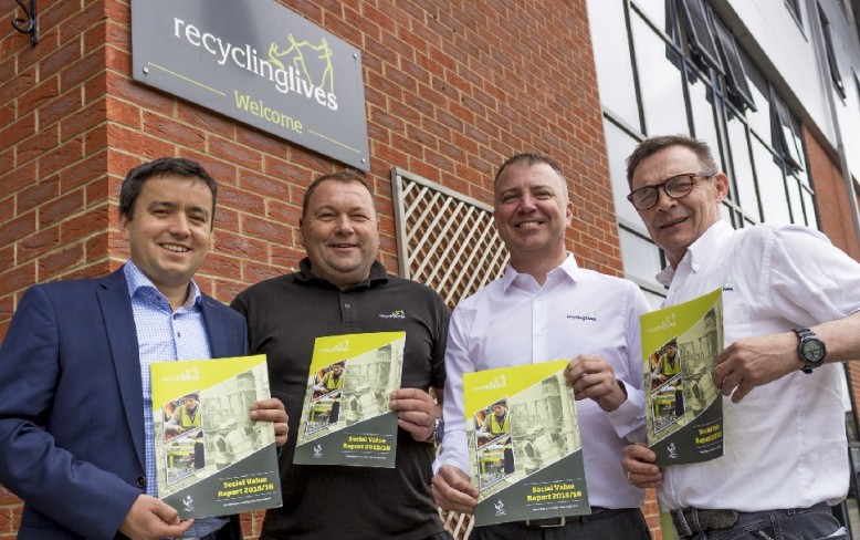 Volunteers 'humbled' by day with Recycling Lives' charity